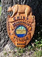 Custom Wood Signs, Personalized Wood Signs, Police badge signs, Sheriffs badge signs, Public Servant Badge signs.