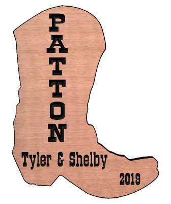 Cowboy Boot Sign, Western Sign, Custom Wood Sign, Personalized Wood Sign